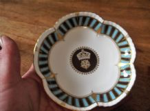 RARE GILDED PETAL PIN DISH ROYAL CROWN DERBY LTD ED DERBYSHIRE CRICKET CLUB 1970